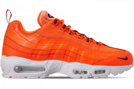 Nike Men's Air Max 95 Premium Casual Shoes - Total Orange/Black/White