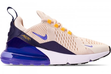 Nike Women's Air Max 270 Casual Shoes - Light Cream/Persian Violet/Midnight