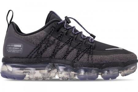 Nike Women's Air VaporMax Run Utility Running Shoes - Black/Reflect Silver/Thunder Grey