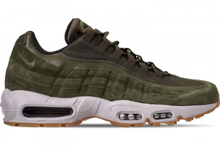 Nike Men's Air Max 95 SE Casual Shoes - Olive Canvas/Sequoia