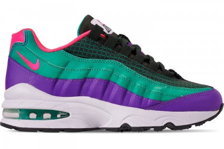 Nike Boys' Big Kids' Air Max 95 Now Casual Shoes - Outdoor Green/Hyper Pink/Cabana