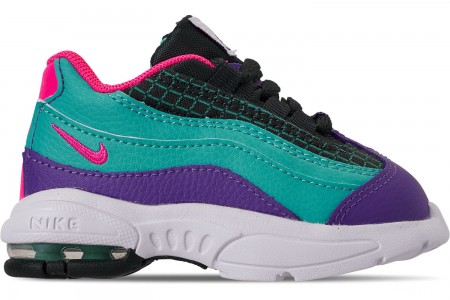 Nike Boys' Toddler Air Max 95 Now Casual Shoes - Outdoor Green/Hyper Pink/Cabana