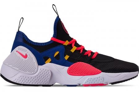 Nike Men's Nike Huarache E.D.G.E. TXT Running Shoes - Black/White/Solar Red/Indigo Forest