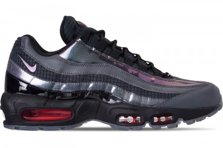 Nike Men's Air Max 95 LV8 Casual Shoes - Black/Ember Glow/Dark Grey