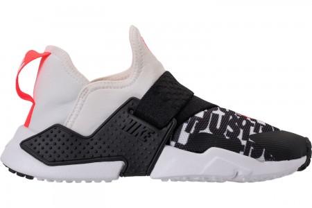 Nike Big Kids' Nike Huarache Extreme Just Do It Print Casual Shoes - White/Bright Crimson/Black/Wolf Grey