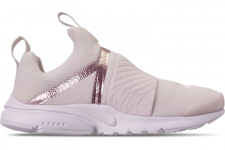 Nike Girls' Big Kids' Presto Extreme Casual Shoes - Phantom/Phantom/Metallic Red Bronze/White