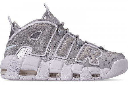 Nike Women's Air More Uptempo Casual Shoes - Metallic Silver/Metallic Silver