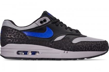 Nike Men's Air Max 1 SE Reflective Casual Shoes - Off Noir/Hyper Blue/Thunder Grey