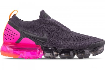 Nike Women's Air VaporMax Flyknit MOC 2 Running Shoes - Gridiron/Laser Orange/Black