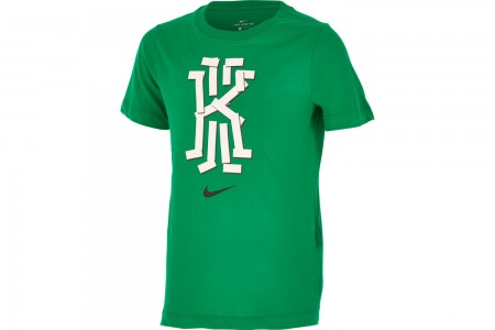 Nike Boys' Dri-FIT Kyrie Basketball T-Shirt - Lucid Green/Cool Grey