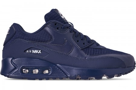 Nike Men's Air Max 90 Essential Casual Shoes - Midnight Navy/White