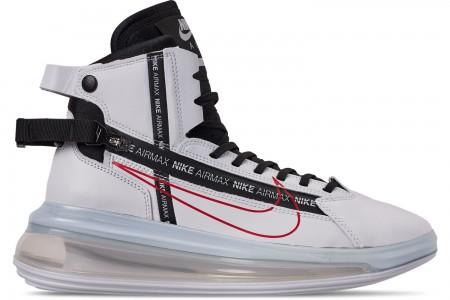 Nike Men's Air Max 720 Satrn Basketball Shoes - White/Black/University Red
