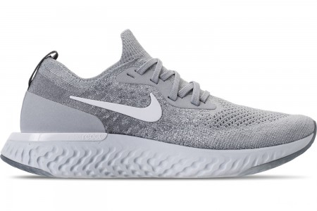 Nike Women's Epic React Flyknit Running Shoes - Wolf Grey/White/Cool Grey/Pure Platinum