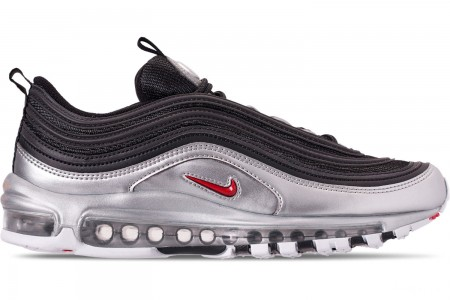 Nike Men's Air Max 97 QS Casual Shoes - Black/Varsity Red/Metallic Silver/White
