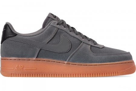 Nike Men's Air Force 1 '07 LV8 Style Casual Shoes - Flat Pewter/Flat Pewter/Gum Medium Brown