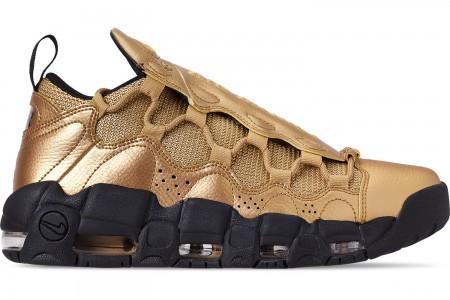 Nike Men's Air More Money Basketball Shoes - Metallic Gold/Black