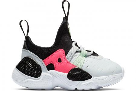 Nike Girls' Toddler Nike Huarache E.D.G.E Casual Shoes - Pure Platinum/White/Black/Hyper Pink