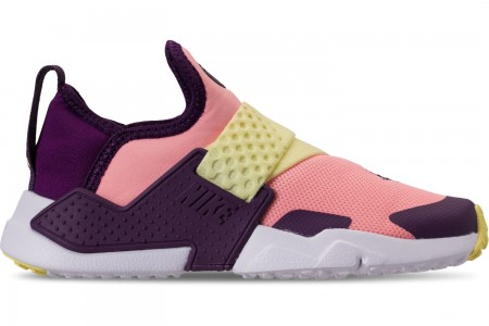 Nike Girls' Big Kids' Nike Huarache Extreme Casual Shoes - Pink/Citron/Night Purple/Bright Grape