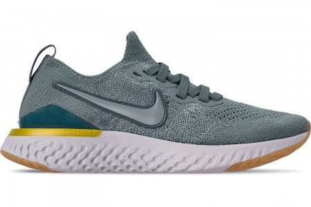 Nike Boys' Big Kids' Epic React Flyknit 2 Running Shoes - Aviator Grey/Black/Blue