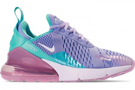 Nike Girls' Big Kids' Air Max 270 Casual Shoes - Unicorn Gel
