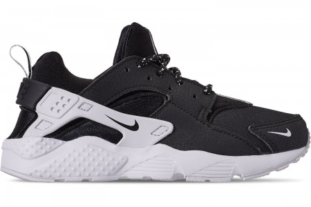 Nike Boys' Little Kids' Nike Huarache Run SE Casual Shoes - Black/Black/White