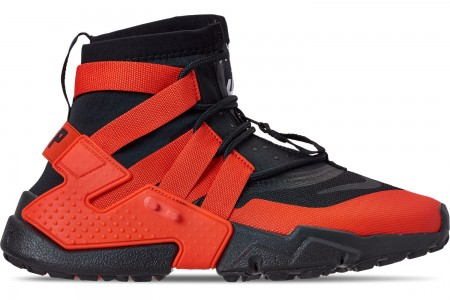 Nike Men's Nike Huarache Gripp Casual Shoes - Black/Team Orange/White