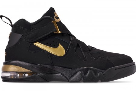 Nike Men's Air Force Max CB Basketball Shoes - Black/Metallic Gold