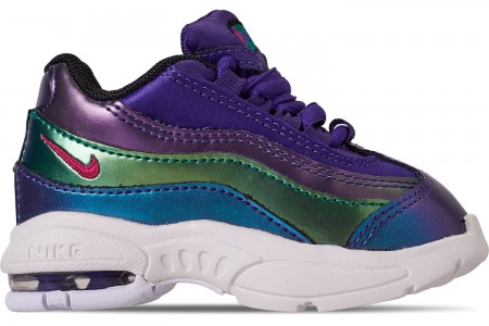 Nike Girls' Toddler Air Max 95 SE Casual Shoes - Court Purple/Rush Pink/Neptune Green