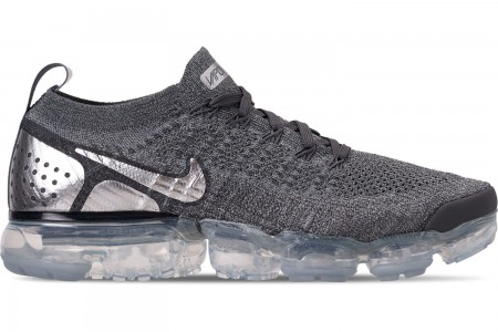 Nike Men's Air VaporMax Flyknit 2 Running Shoes - Atmosphere Grey/Multicolor/Gunsmoke