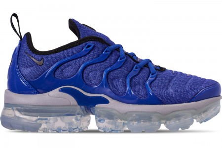 Nike Men's Air VaporMax Plus Running Shoes - Game Royal/Black/Wolf Grey/Racer Blue