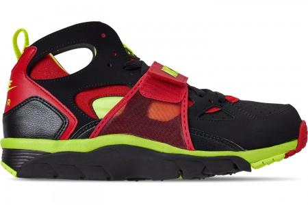 Nike Men's Nike Air Trainer Huarache Training Shoes - Black/University Red/Volt