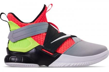 Nike Men's LeBron Soldier 12 SFG Basketball Shoes - Hot Lava/White/Black