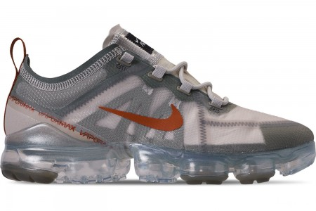 Nike Men's Air VaporMax 2019 Running Shoes - Vintage Lichen/Dark Russet/Light Bone