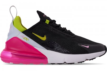 Nike Women's Air Max 270 Casual Shoes - Black/Cyber/Pink Rise