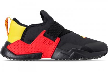 Nike Big Kids' Nike Huarache Extreme SE JDI Casual Shoes - Black/Bright Crimson/Dynamic Yellow