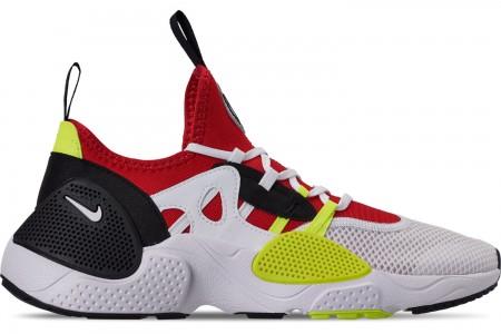 Nike Men's Nike Huarache E.D.G.E. TXT Running Shoes - White/University Red/Volt/Black