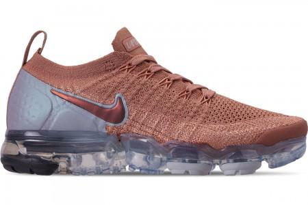 Nike Women's Air VaporMax Flyknit 2 Running Shoes - Rose Gold/Rose Gold/Bio Beige
