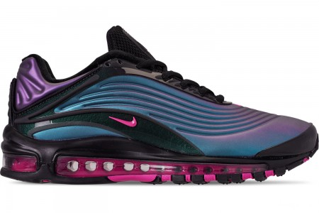 Nike Men's Air Max Deluxe Casual Shoes - Black/Laser Fuchsia