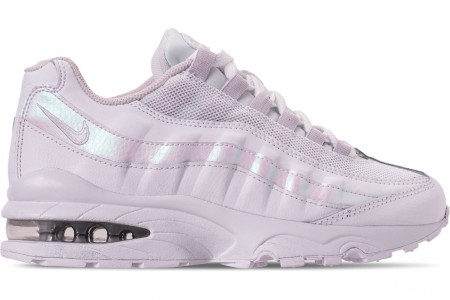 Nike Girls' Big Kids' Air Max 95 Casual Shoes - White/White/Vast Grey