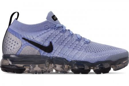 Nike Women's Air VaporMax Flyknit 2 Running Shoes - Aluminum/Black/Metallic Silver