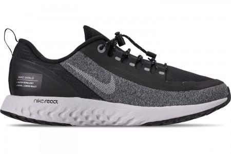 Nike Boys' Big Kids' Epic React Shield Running Shoes - Black/White/Cool Grey/Vast Grey