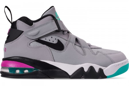 Nike Men's Air Force Max CB Basketball Shoes - Wolf Grey/Black/Lethal Fuchsia