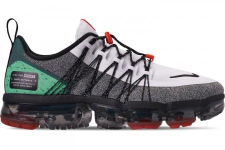 Nike Men's Air VaporMax Run Utility Running Shoes - White/Black/Tropical Twist/Team Orange