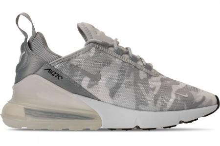 Nike Women's Air Max 270 SE Casual Shoes - Pure Platinum/White/Wolf Grey