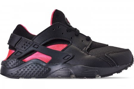 Nike Boys' Little Kids' Nike Huarache Run Casual Shoes - Black/Anthracite/Solar Red