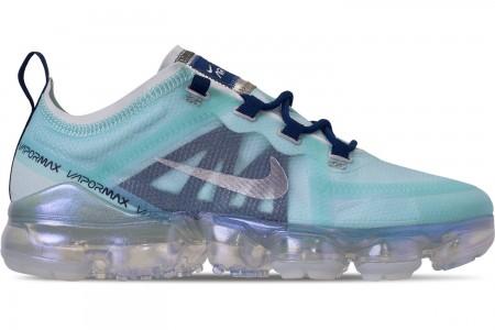 Nike Women's Air VaporMax 2019 Running Shoes - Teal Tint/Metallic Silver/Blue Void