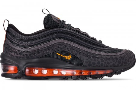 Nike Boys' Big Kids' Air Max 97 Pollux Casual Shoes - Off Noire/Orange Trance/Thunder Grey