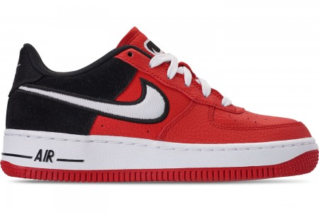 Nike Boys' Big Kids' Air Force 1 LV8 1 Casual Shoes - Mystic Red/White/Black