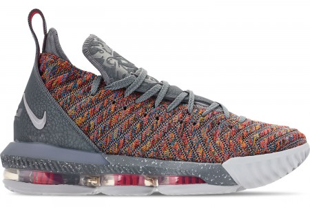 Nike Men's LeBron 16 Basketball Shoes - Multi-Color/Metallic Silver/Cool Grey