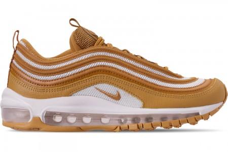 Nike Women's Air Max 97 Casual Shoes - Wheat/Wheat/Club Gold/Club Gold